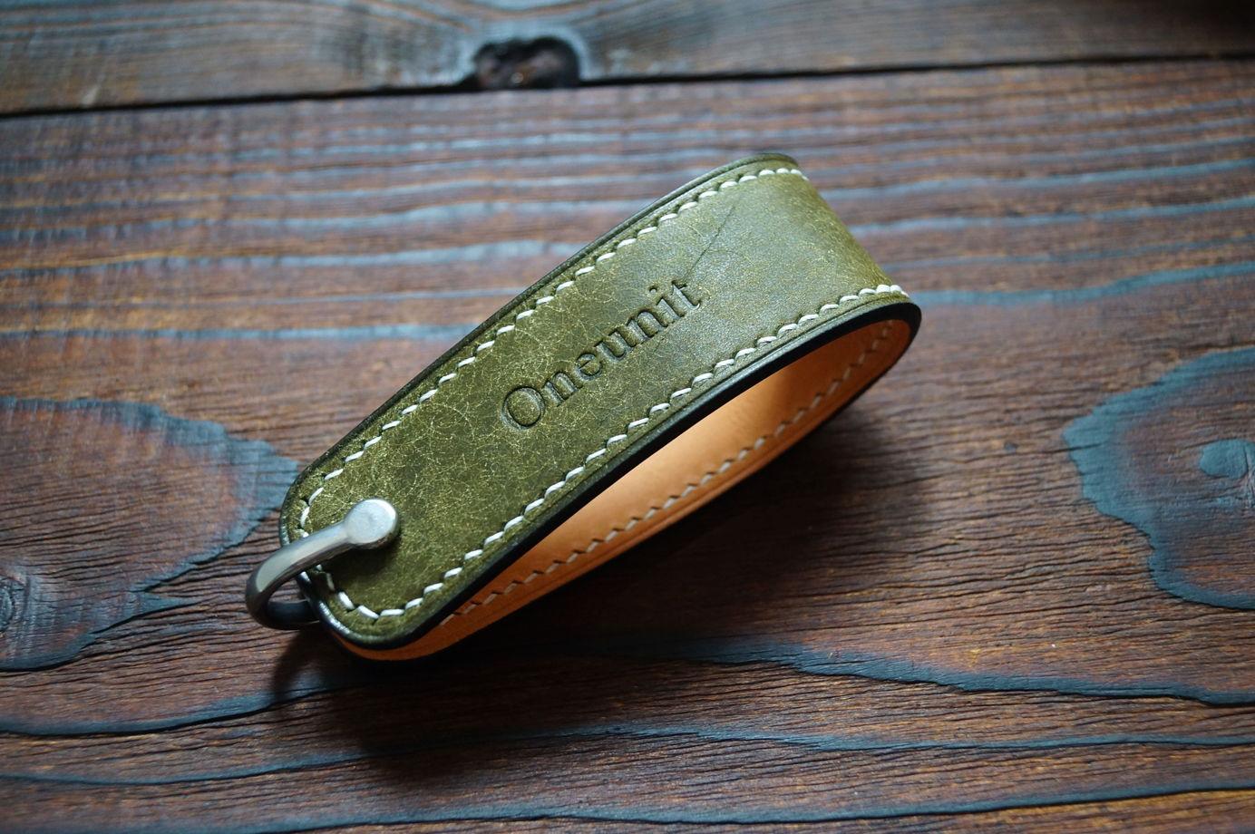 Ключница CB1 Olive из натуральной кожи (ручная работа)