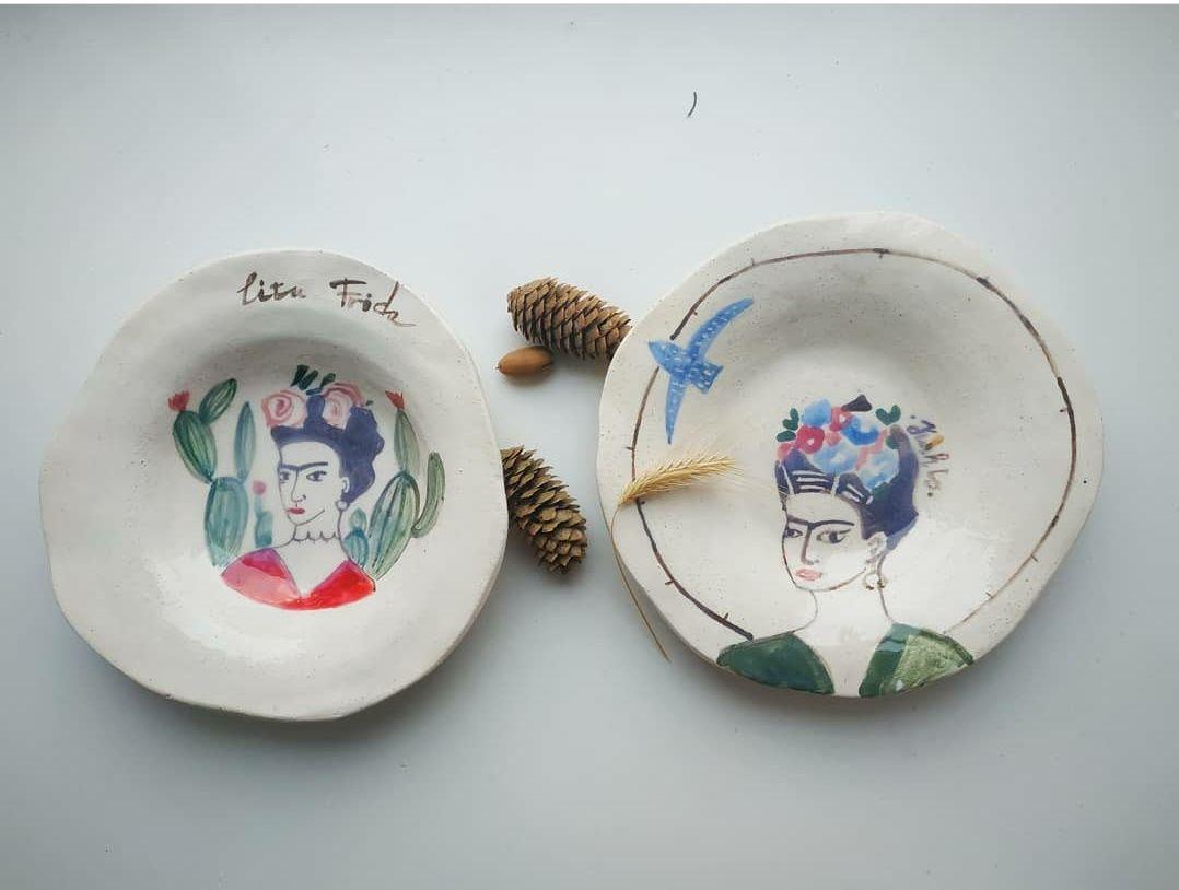 Керамические тарелки с авторской росписью Smoky eyes