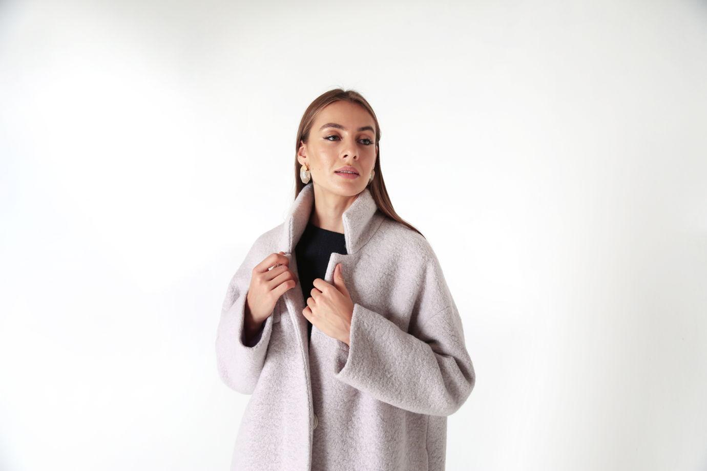 Пальто-кокон  оверсайз  Primula