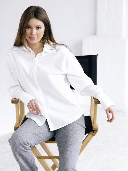 Женская рубашка молочного цвета