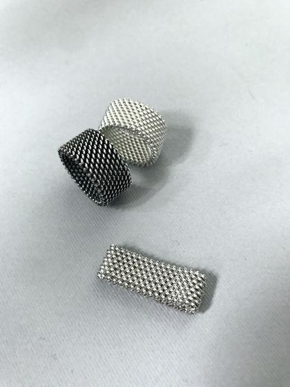 Серебрянные кольцо Кольчуга