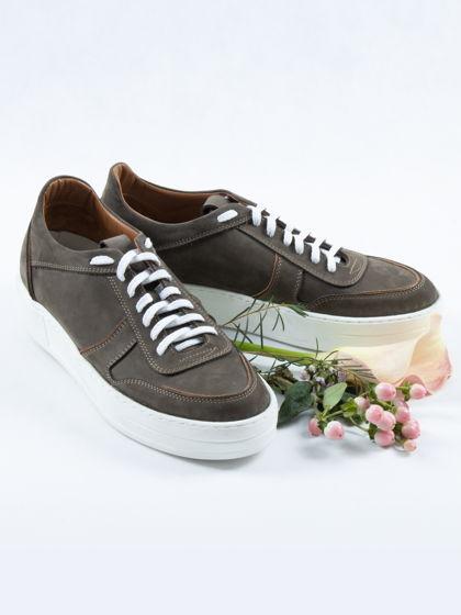 Кеды нубук, хаки/ Arcadia Shoes