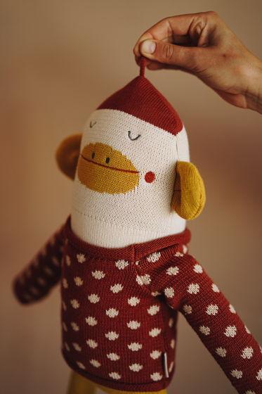 Boo the Monkey / Вязаная обезьянка Бу