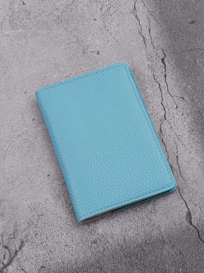 """Обложка для паспорта """"Verona"""" Гермес Голубой"""