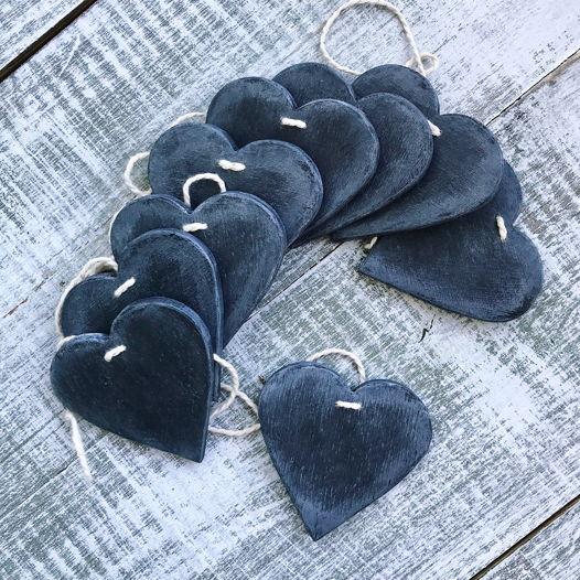 деревянная гирлянда Hearts black