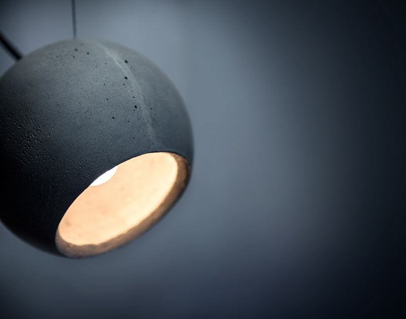 Подвесной бетонный светильник LOONA 180