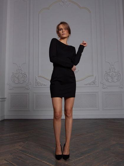 Платье из вискозы Эсте черное