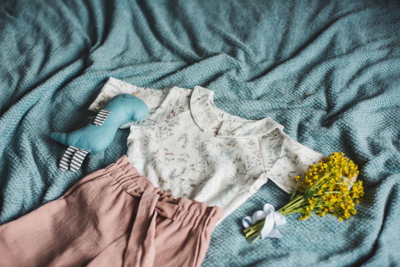 Рубашка реглан, свободного кроя из хлопка
