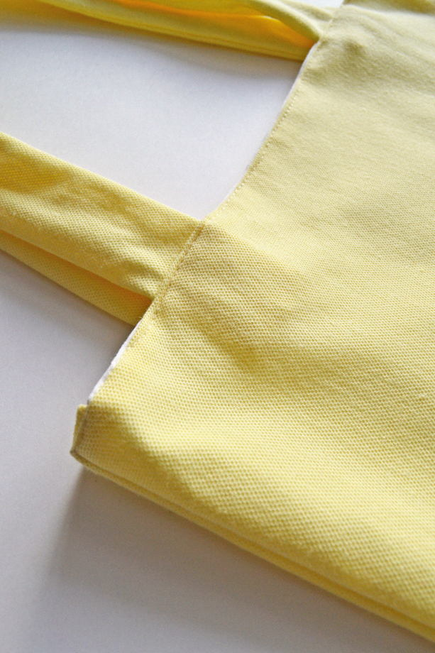 Желтый шоппер с длинными ручками