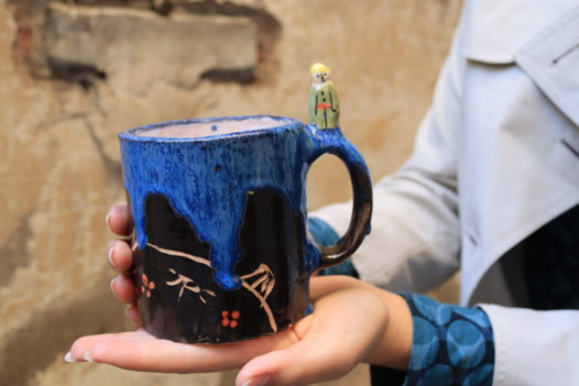 """Чашка цилиндр с принцем из серии """"Маленький принц"""""""