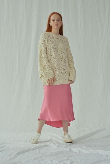 Оверсайз свитер с ажурным узором