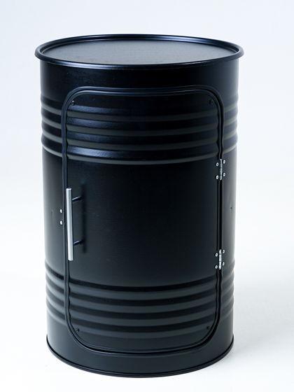 Декоративная бочка-шкаф PRO BLACK