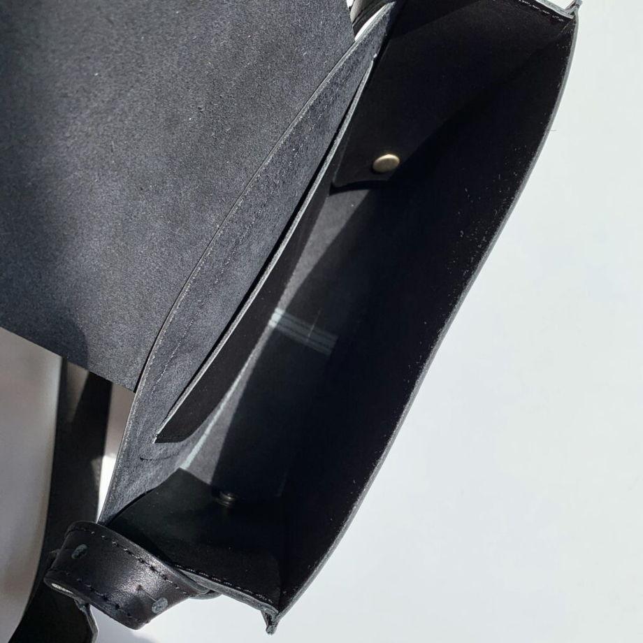 Кожаная сумка Suprematism Black