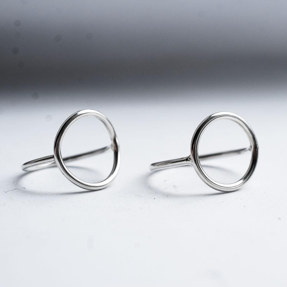 Кольцо круг из серебра
