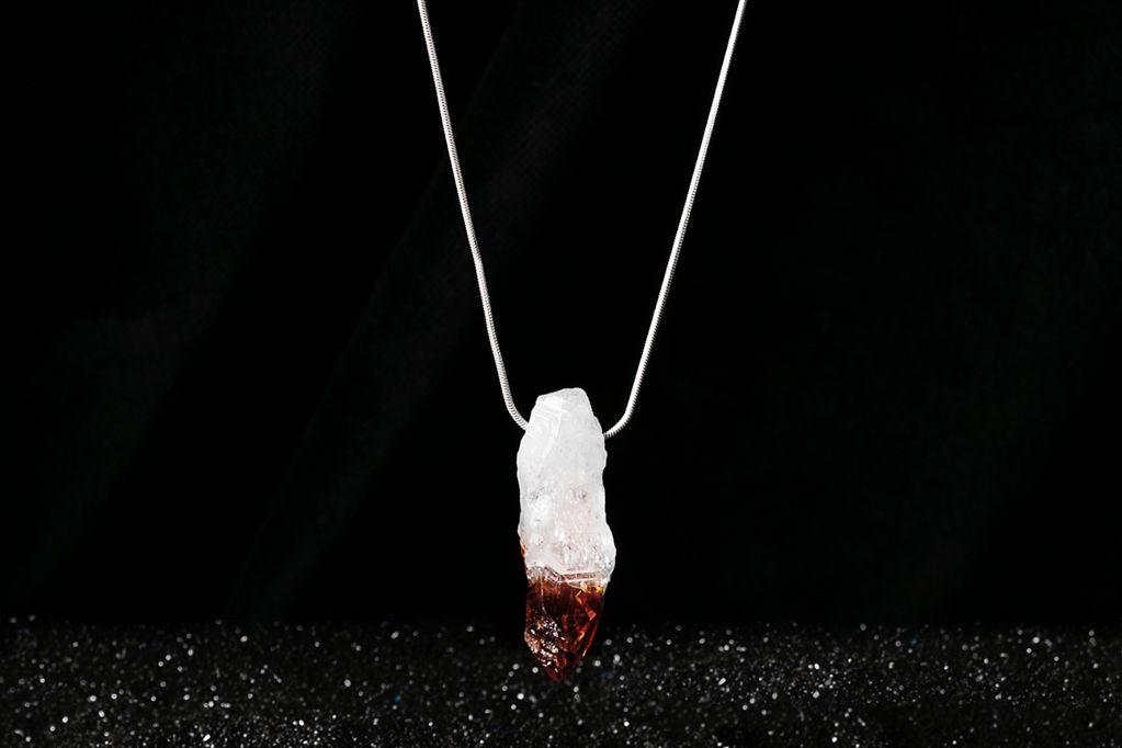 НОВИНКА - Серебряная подвеска с цитрином