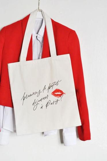 """Шоппер с карманом """"Давай позавтракаем в Париже?"""""""
