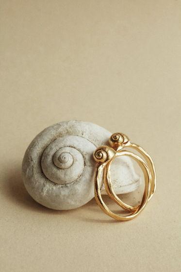 кольцо с малышкой-ракушкой