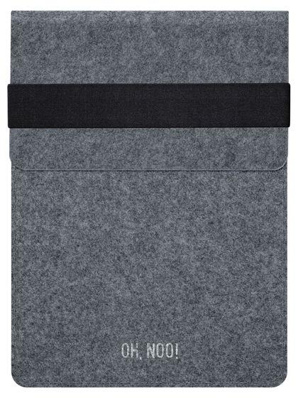 Чехол из фетра для iPad и планшетов, темно-серый, вертикальный с крышкой