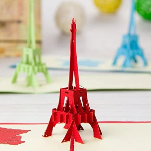 Эйфелева башня 3D открытка ручной работы