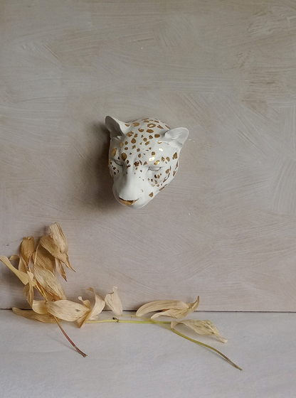 "Скульптура из гипса ""Леопард"""