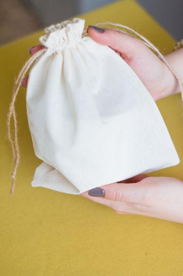 Хлопковый эко-мешочек для кружки