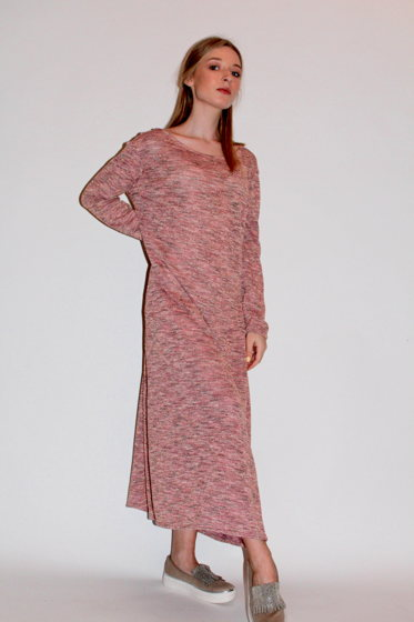 Длинное платье с люрексом