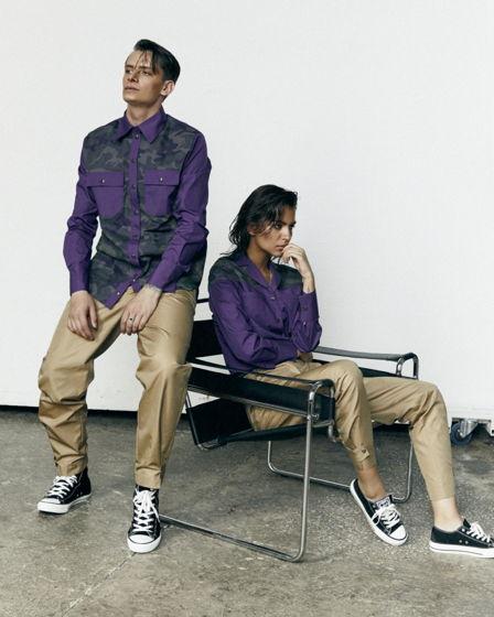 Бежевые брюки-унисекс из итальянского хлопка