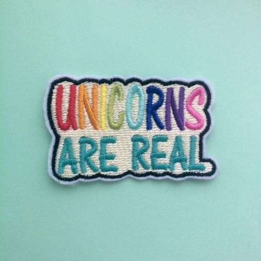 """Термоклеевая нашивка  """"Unicorns are Real"""""""