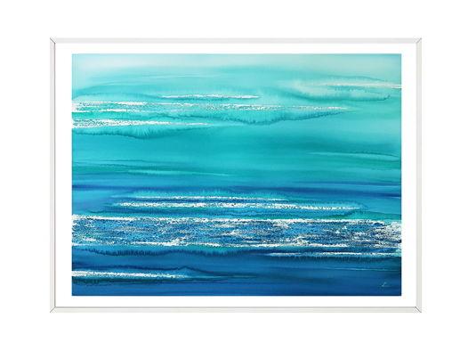 """Картина из авторской серии """"Морские сны - абстракция #1"""", размер: 74 х 55 см"""