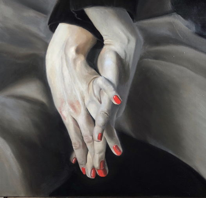 Картина из серии «руки». Холст / масло 50х50см