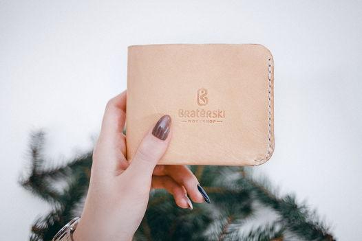 Кожаный Бумажник Basic Natural
