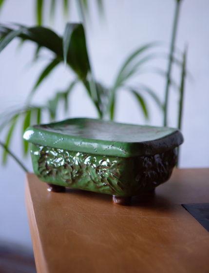Эксклюзивная керамическая шкатулка «Слон» ручной работы