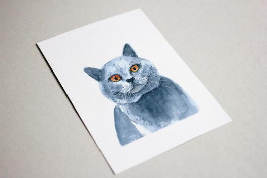 "Портрет кота ""Британец"" (ручная работа)"