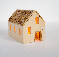 #20. Миниатюрный деревенский дом. Светильник. Керамика. Ручная работа.