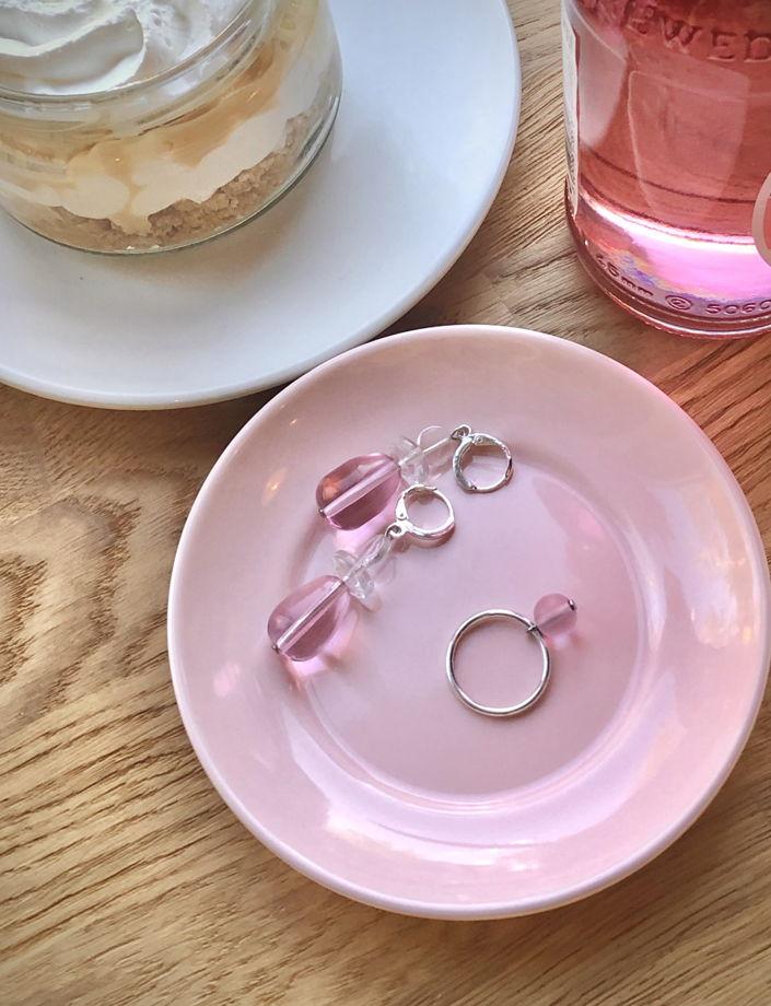 Кольцо с подвесной стеклянной бусиной Handy Candy