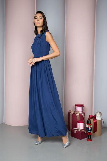 Длинное вечернее платье из 100% шелка
