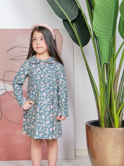 Платье для девочки (Яблочки) Последний размер 110-116