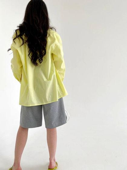 "Рубашка unisex oversize ""дыня лимон"""