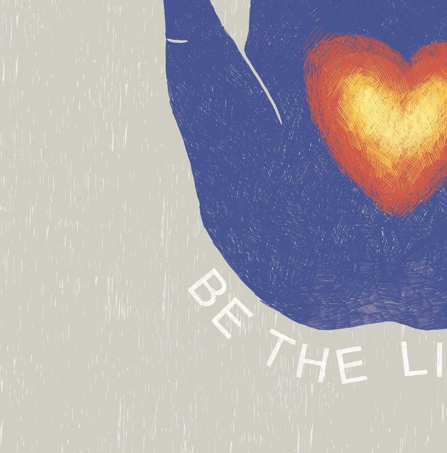 "Постер ""BE THE LIGHT"" с  фразами гавайской практики  HO'OPONOPONO"