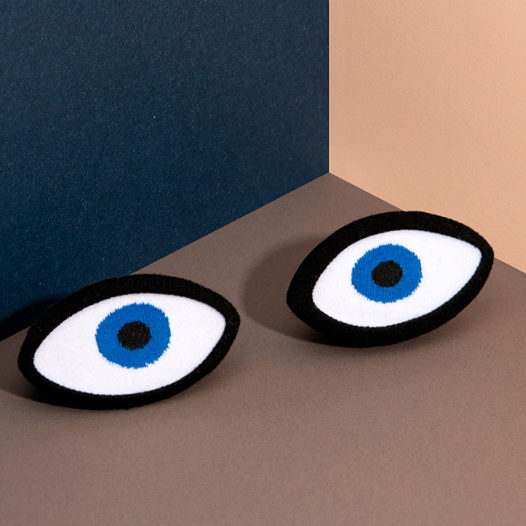 Носки в форме глаз DOIY Eye Blue Socks