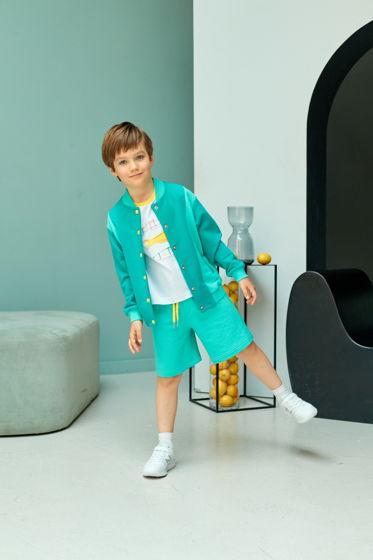 Мягкие шорты для мальчика из футера мятного цвета Lagoon