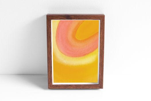 """Акварельный рисунок """"Лучи цвета: желтый-оранжевый-красный №2"""""""