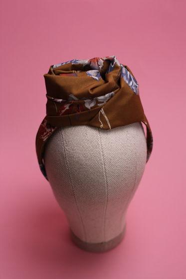 Ободок-шляпка ручной работы