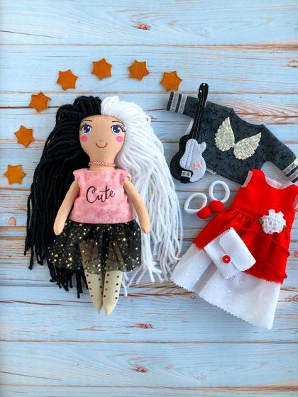 """Текстильная кукла с одеждой """"Рок звезда"""""""
