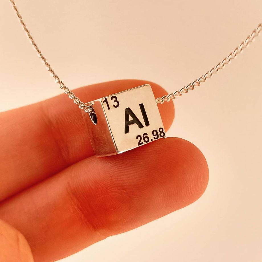 Серебряная именная подвеска для Физиков и Химиков