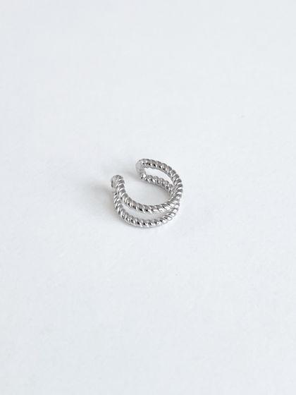 Кафф крученый на верх уха / серебро 925