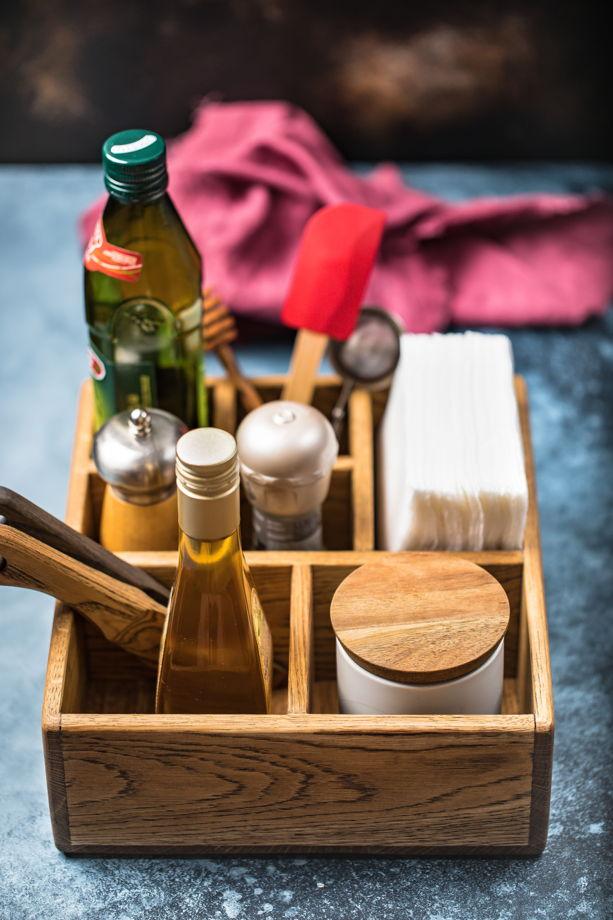Салфетница с отделениям для кухонных мелочей