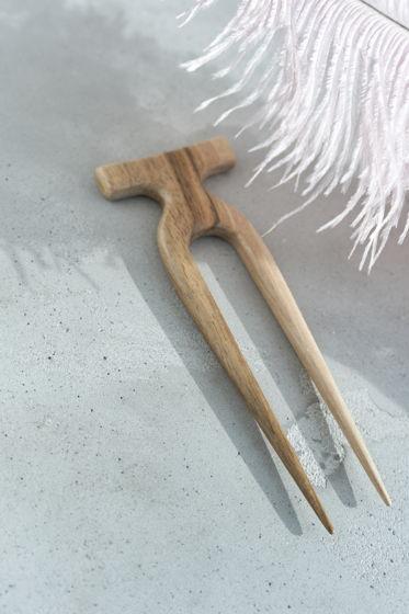Заколка шпилька для волос из американского ореха