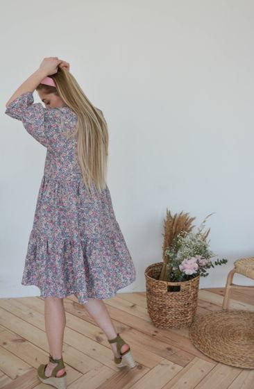 Свободное платье из хлопка с цветочным принтом Ellie