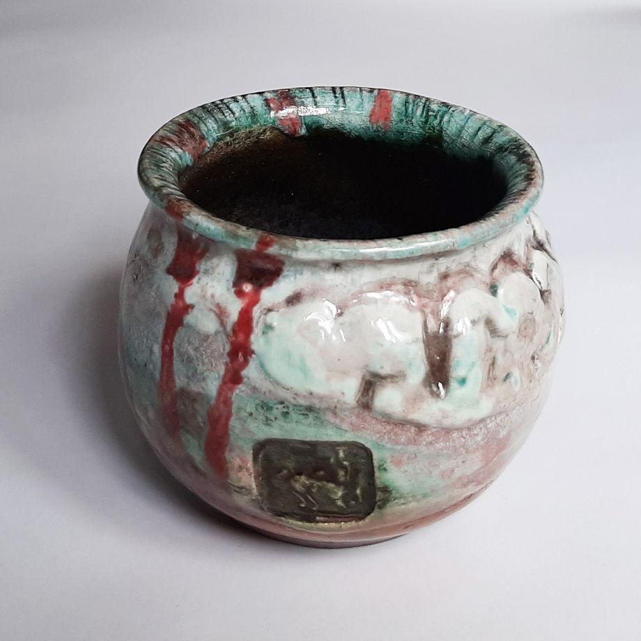 Керамический горшочек - вазочка.